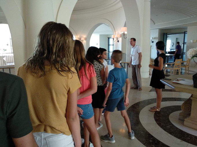 Animation Workshop for children by Sami Natsheh and Arly Jones of the Spanish animation studio Cabeza Voladora in the Anassa Hotel on the 8th of August 2019