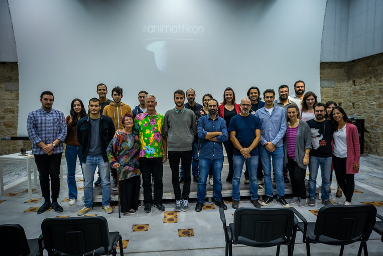 Group photo with the Animattikon Project's production team, the jury members, the directors, our guests, friends and supporters