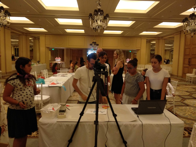 Animation Workshop for children by Marios Mattheou and Panayiota Michael at the Anassa Hotel's Balltroom on the 8th of August 2019