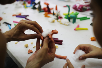 Animation Workshop for Children on the theme of animals, by Thomas Künstler, on the 31st of October and 1st of November 2018 at the Kimonos Art Center.