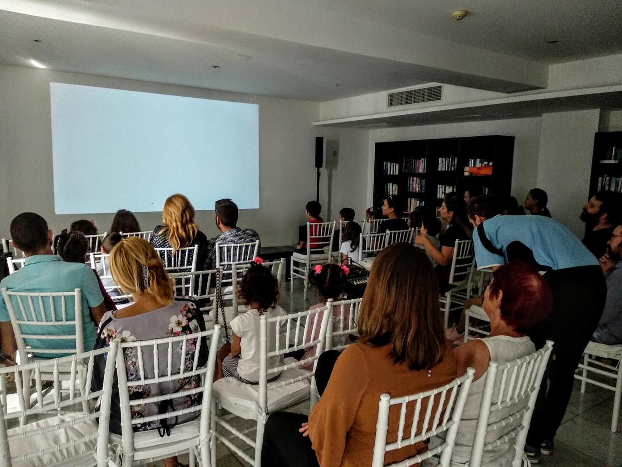 Screening of the children's program at Almyra Hotel