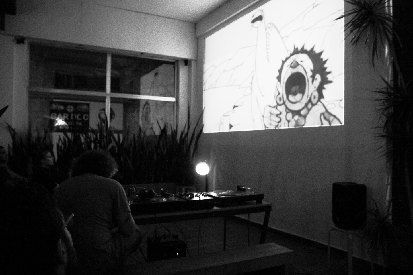 Celebrating the International Animation Day at the Ananas8bit Coffee with Pan, Whirl-Dos and Laurie Isle of the Honest Electronics collective on the 28th of October.