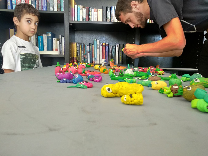 Thomas and the kids! Stop Motion animation Workshop at Almyra Hotel by Thomas Kunstler