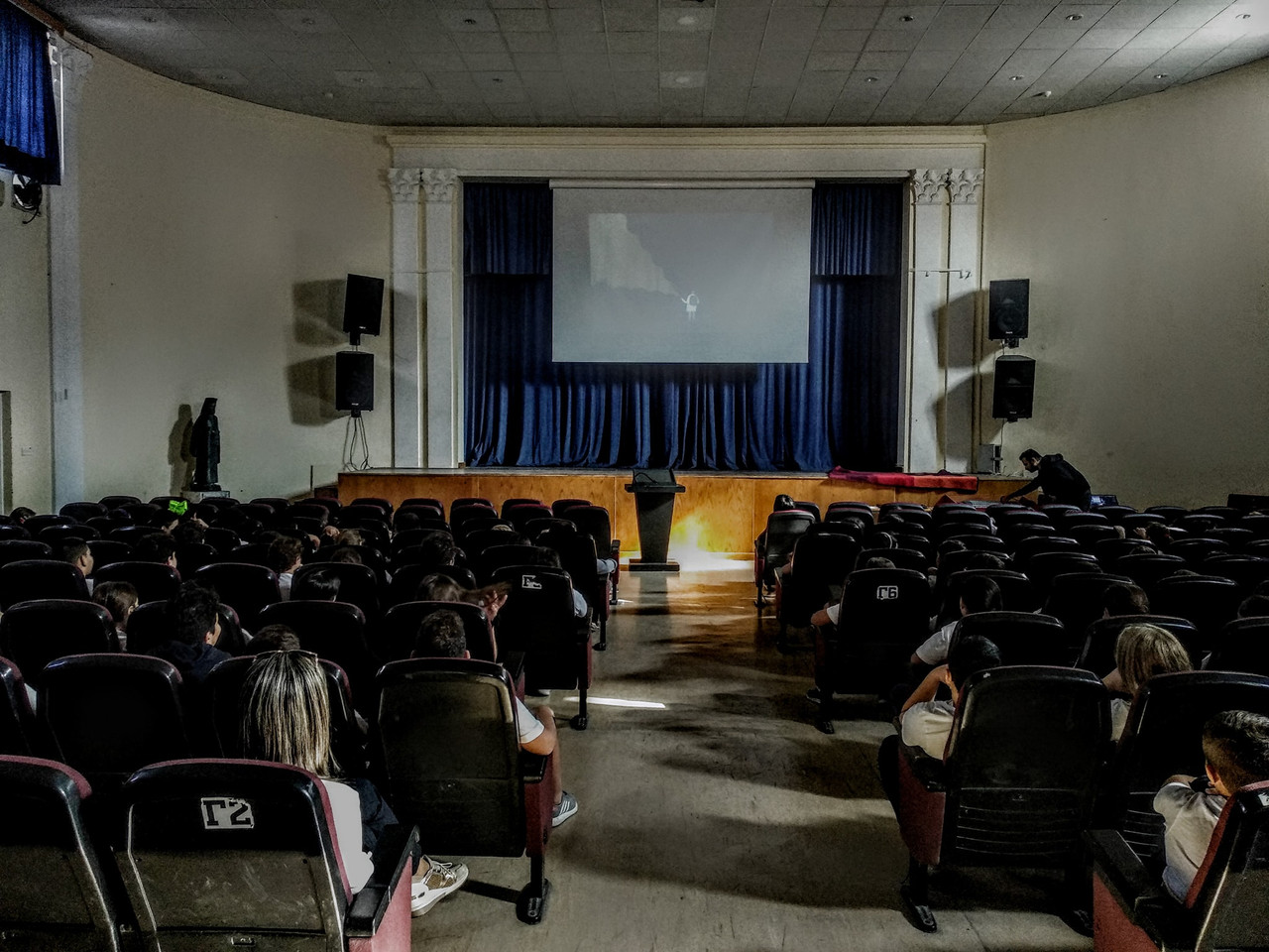 Screening of the children's program selected by Eleni Chandriotou in the framework of the International Animation Day, at First Lyceum of Paphos