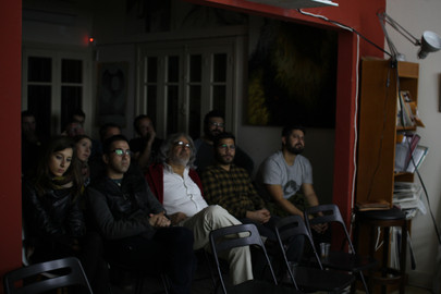"Screening of Giorgos Nikopoulos' film ""The Ox"". The director was present at screening and spoke briefly about his creative process. A discussion followed with the audience."