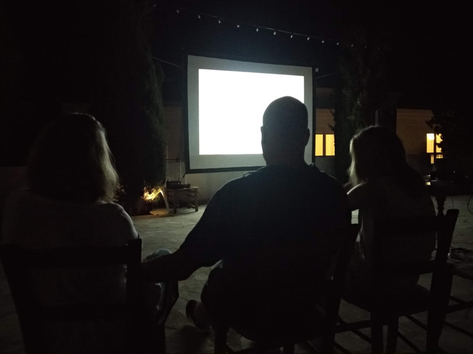 Screening of Bruce Bickfords films at the Anassa Hotel's Village Square (10th of August 2019)