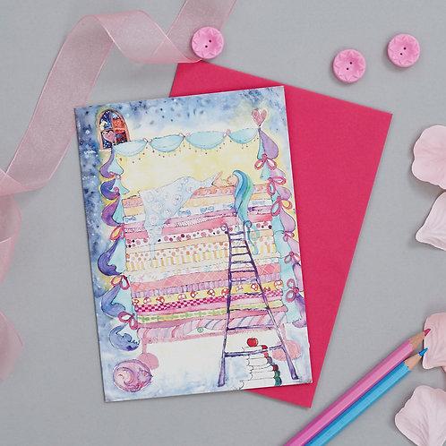 Princess and the Pea Card