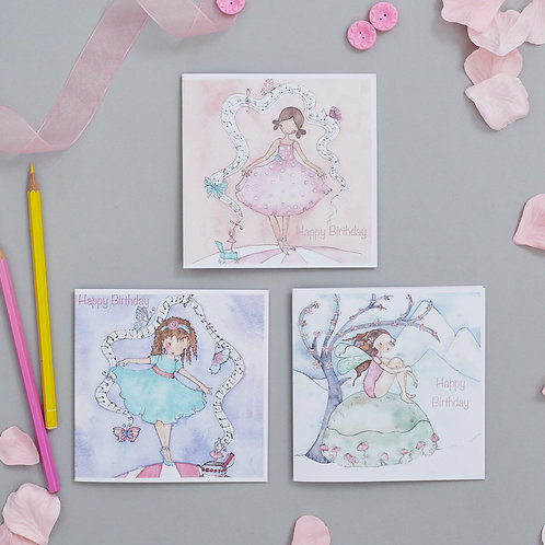 Personalised Ballet or Fairy Birthday Card