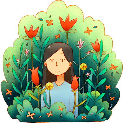 girl in flowers sticker.png