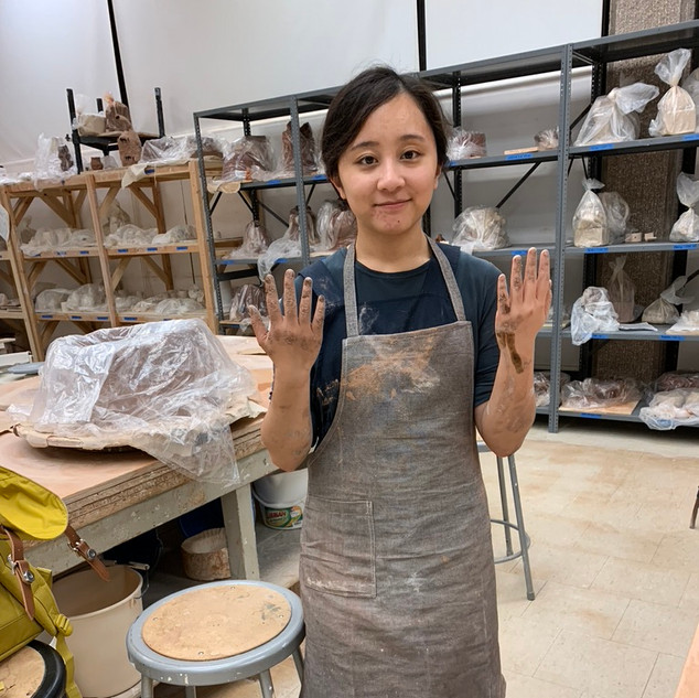 We had to make our own clay for this project. As you can imagine, it was very messy.