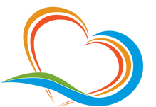 Paradise Weddings and Travel Logo Heart