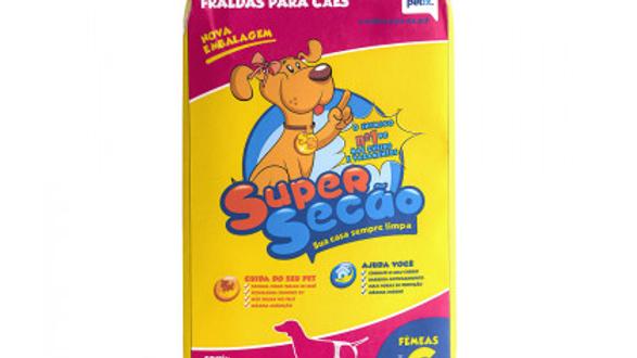 Fralda Descartável SuperSecão para Cães Fêmeas Tamanho G - com 12 un.
