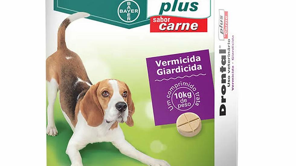 Vermífugo Drontal Plus Sabor Carne até 10kg Bayer com 4 comprimidos