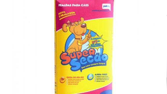 Fralda Descartável Super Secão para Cães Fêmeas Tamanho PP - com 12 un.