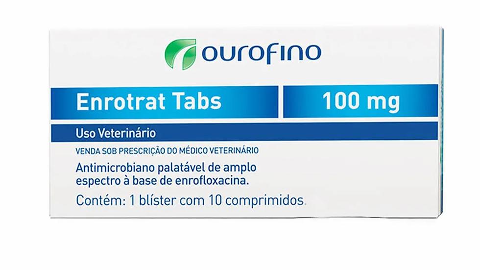 Enrotrat Tabs Ourofino 10 Comprimidos de 100mg