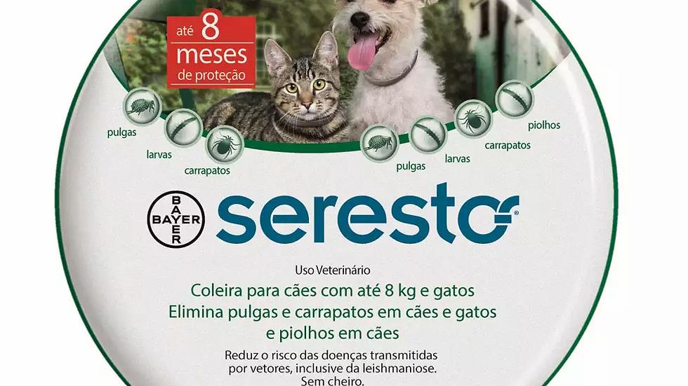 Coleira Antipulgas Seresto Cães de Até 8kg e Gatos
