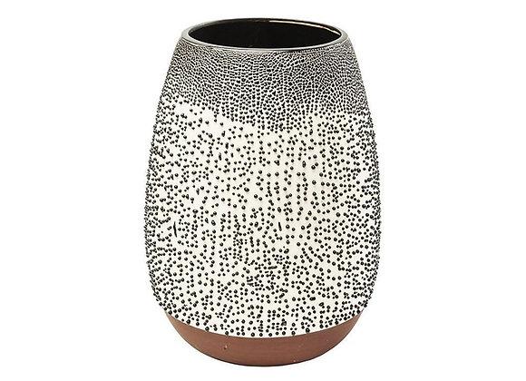 KARE Vase Black Dots 22cm