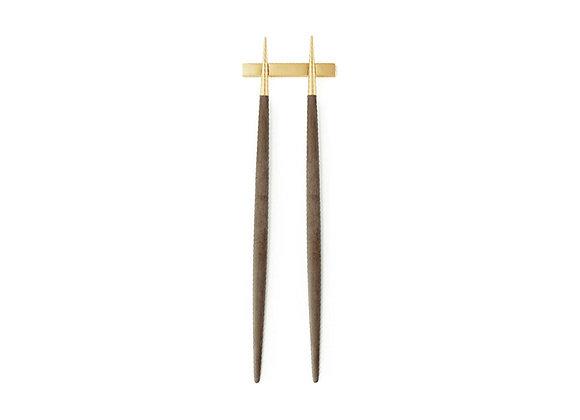 CUTIPOL GOA GOLD BROWN CHOPSTICK SET (3PCS)