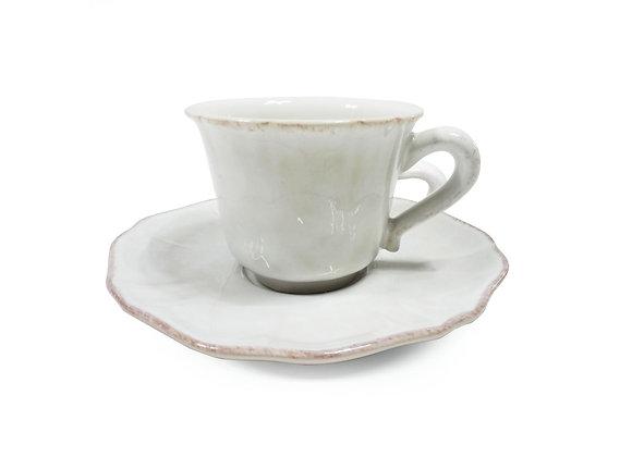 COSTA NOVA Coffee cup & saucer, IMPRESSIONS, white