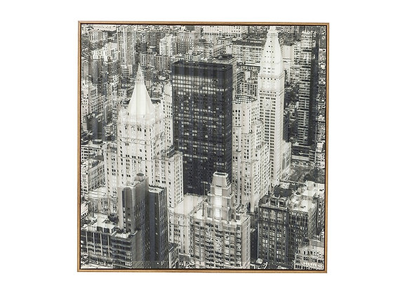 KARE Picture Frame Art 3D City View Three 80x80cm