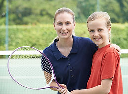 Tennis Coach & child
