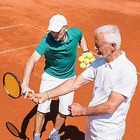 Tennis Coach & Male Client