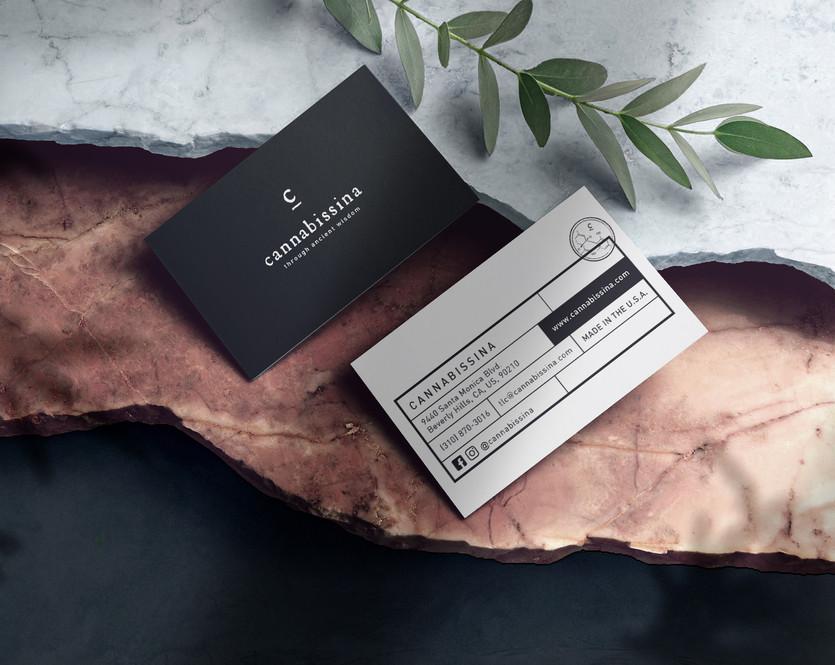 cannabissina Business Cards design studio
