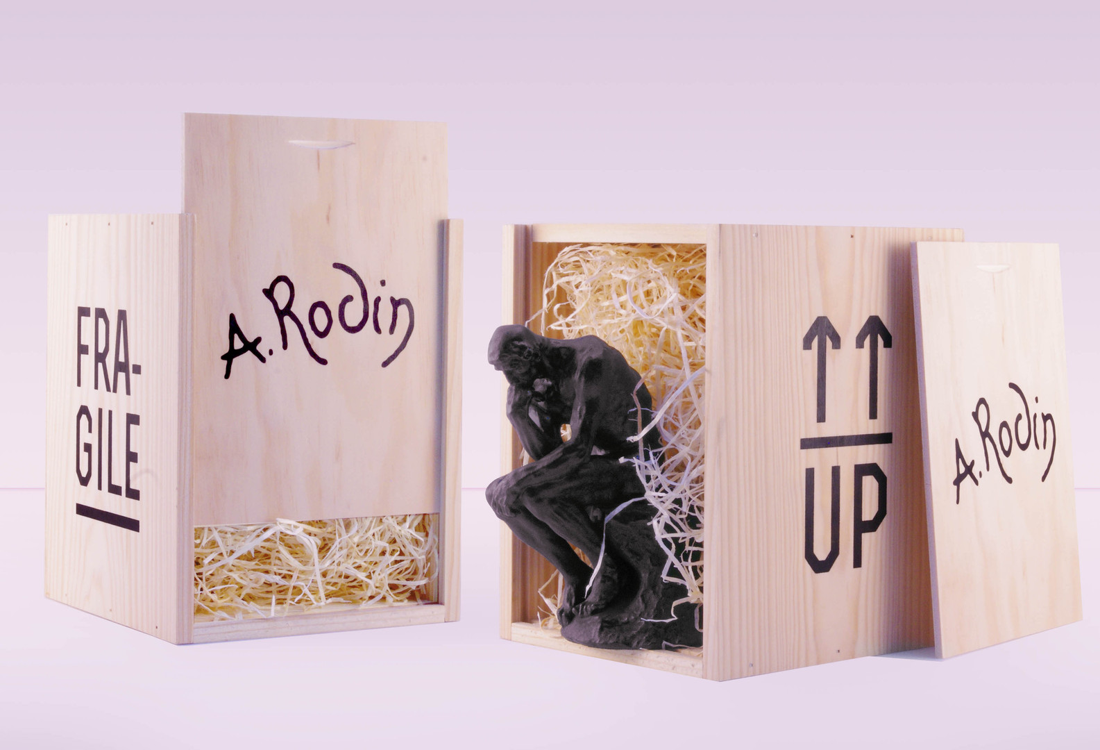 le penseur musee rodin packaging