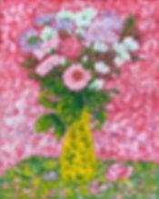 Spring flowers in a yellow vase.JPG