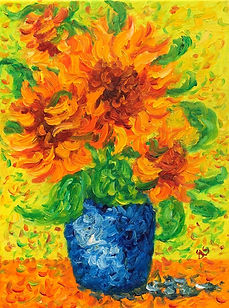 Sunflowers - 4 in a vase.JPG