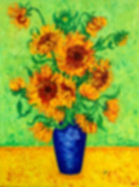Sunflowers with a Green Background.jpg