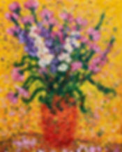Flowers in an orange vase.JPG