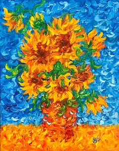 Sunflowers with a Blue Background.jpg