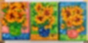 se of 3 sunflower miniatures.jpg