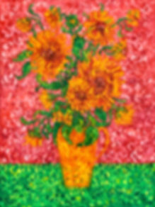 Sunflowers on a pink background .jpg