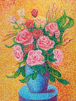 Roses on a Blue Table.jpg