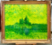 Venice in Green and Yellow framed.jpg