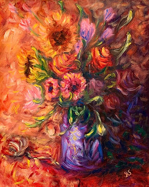 flowers in a purple vase.jpg