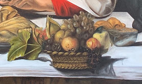 detail of the bowl of fruit from oil rep