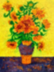Sunflowers in  Purple Vase.jpg