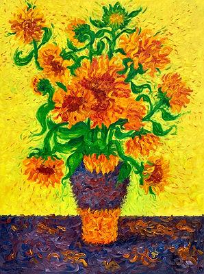 Sunflowers in  Purple Vase.jpg