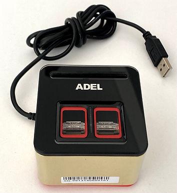 Codificador de tarjeta ADEL con lector de huella