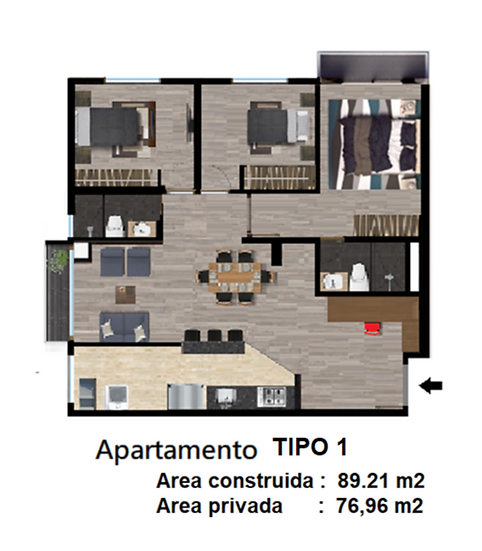 Torre D - Tipo 1
