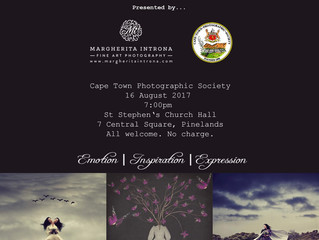 Presentation: Cape Town Photographic Society - 16 August 2017