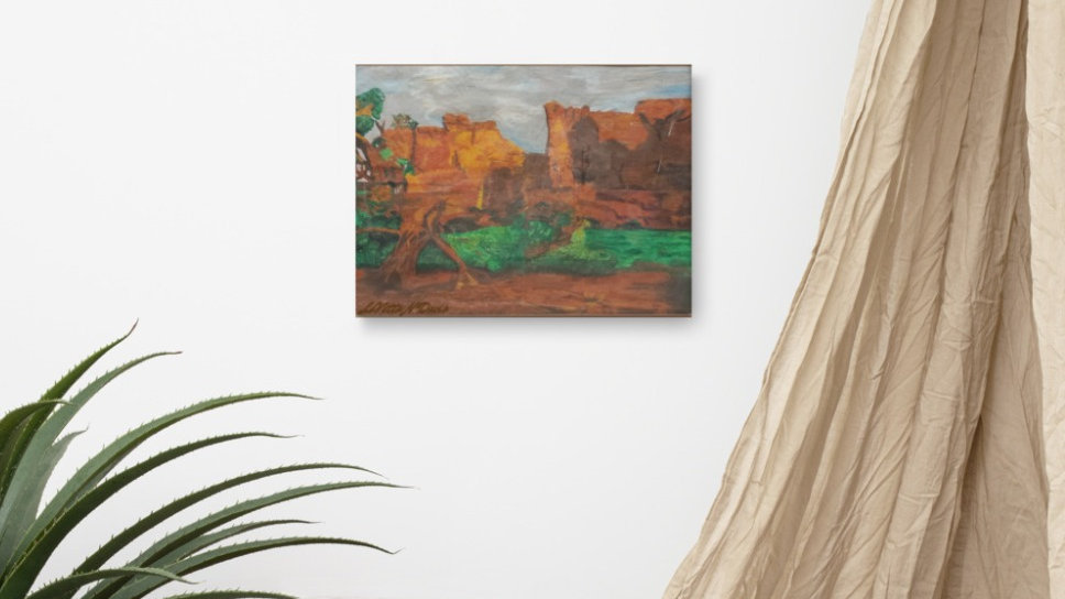 Rock Canyon on Canvas
