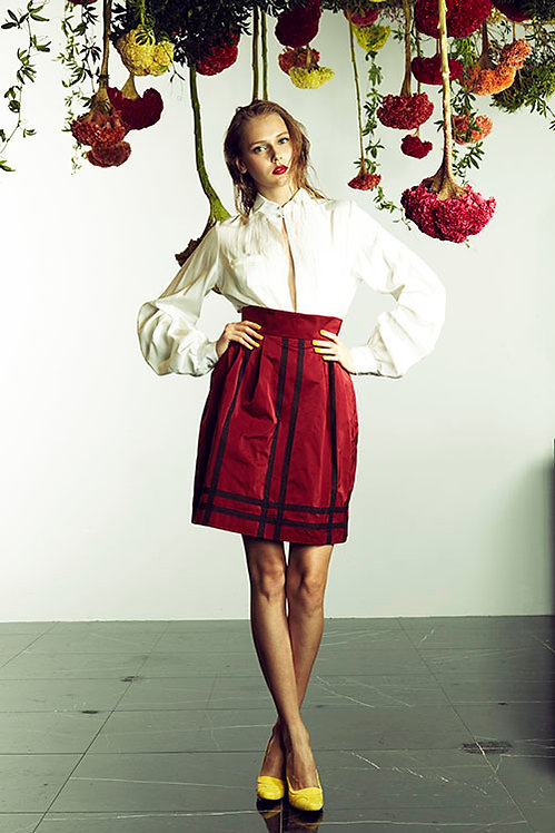 motonari ono 2015ss Red Skirt