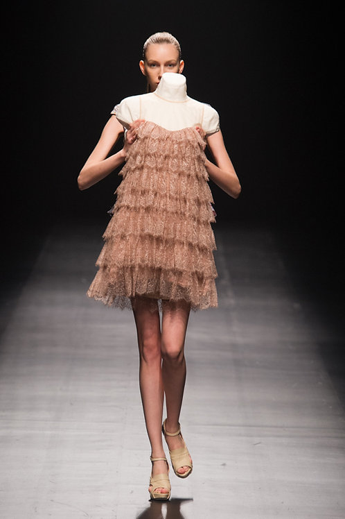 motonari ono 2013ss Pink Lace Dress
