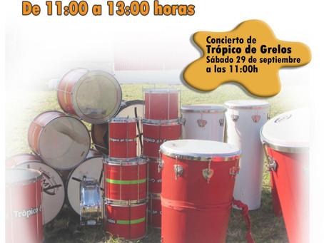 Concerto e obradoiro de percusión brasileira da man de Trópico de grelos.