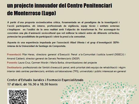 Presentación en el Centre d'Estudis Jurídics i Formació Especialitzada (CEFJE) del Departament de Ju