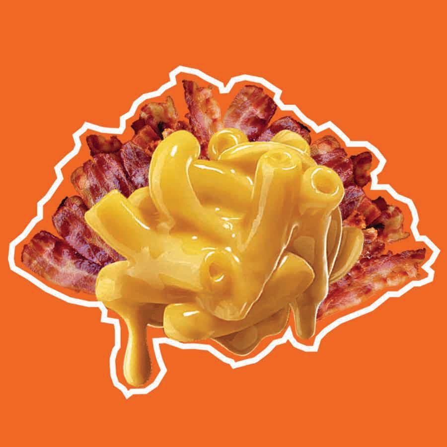 Charola de Bacon mac & cheesse